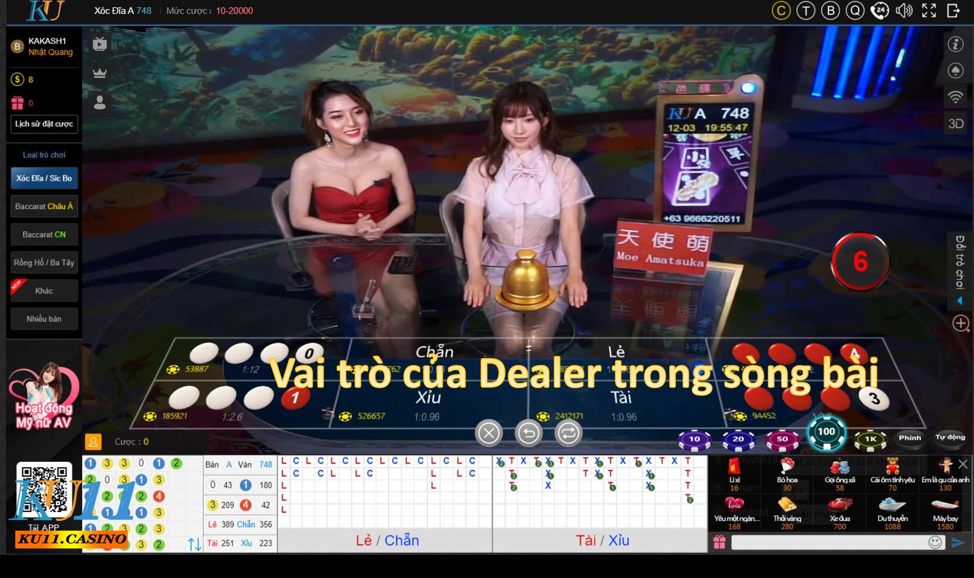Vai trò của Dealer trong sòng bài